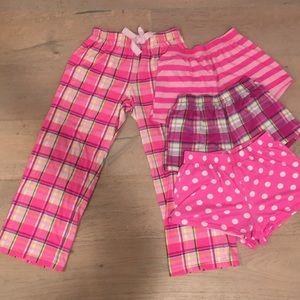 Girl's assorted pajama bottoms